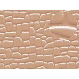 Slater's Plastikard SL421 Builder Sheet embossed with random stone in Grey, N/H0/OO gauge, plastic