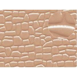 Slater's Plastikard SL421 Selbstbauplatte unregelmäßige Steinformen in gaubrauner Farbe. Maßstab N/H0/OO aus Kunststoff