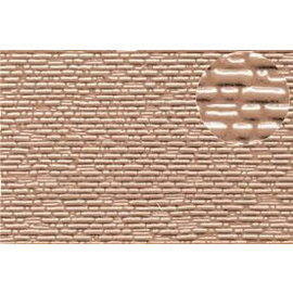 Slater's Plastikard SL422 Selbstbauplatte gemauerte Natursteine in graubrauner Farbe. Maßstab N  aus Kunststoff