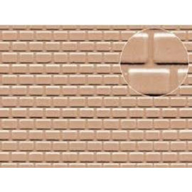 Slater's Plastikard SL426 Builder Sheet embossed with roofing tile motive in grey, H0/OO gauge, plastic