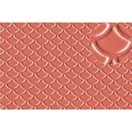 Slater's Plastikard SL438 Selbstbauplatte Dachbedeckung/Bieferschwanz in steinroter Farbe. Maßstab H0/OO aus Kunststoff