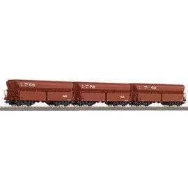 "Roco Roco 45978 NS set of 3 hopper wagon ""Kalk"" DC era IV (gauge H0)"