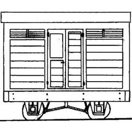 "Dundas Models (formerly Parkside Dundas) Parkside Dundas DM03A ""Guards Van"" (schaal OO9/HOe)"