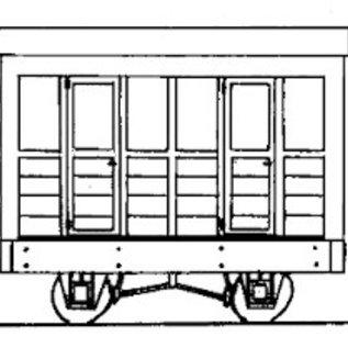 "Dundas Models (formerly Parkside Dundas) Parkside Dundas DM04A ""2 Compartment Coach"" (Spur OO9/HOe)"