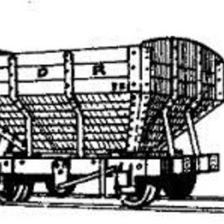 """Dundas Models (formerly Parkside Dundas) Parkside Dundas DM06 """"Snailbeach District Railways Hopper Wagon"""" (schaal OO9/HOe)"""