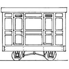 """Parkside Dundas Parkside Dundas DM75 """"3rd Class Panelled 2 Comp. Coach"""" (gauge OO9/HOe)"""