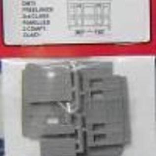 "Parkside Dundas Parkside Dundas DM75 ""3rd Class Panelled 2 Comp. Coach"" (Spur OO9/HOe)"