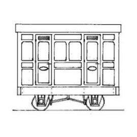 """Parkside Dundas Parkside Dundas DM76 """"1st Class Panelled 2 Comp. Coach"""" (Spur OO9/HOe)"""