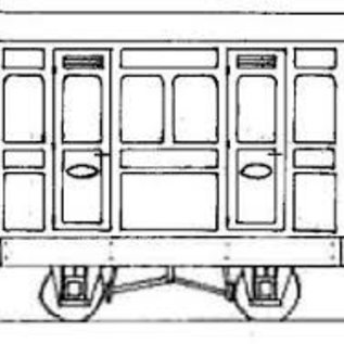 "Dundas Models (formerly Parkside Dundas) Parkside Dundas DM76 ""1st Class Panelled 2 Comp. Coach"" (gauge OO9/HOe)"