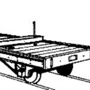 "Dundas Models (formerly Parkside Dundas) Parkside Dundas DM09 ""Bolster Wagon (Paar)"" (Spur OO9/HOe)"