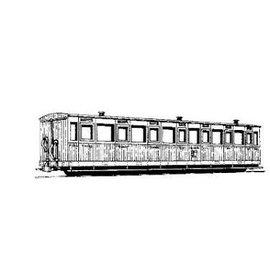 """Parkside Dundas Parkside Dundas DM10A """"Vale of Rheidol 3rd Class Bogie Coach no. 1-12"""" (Spur OO9/HOe)"""