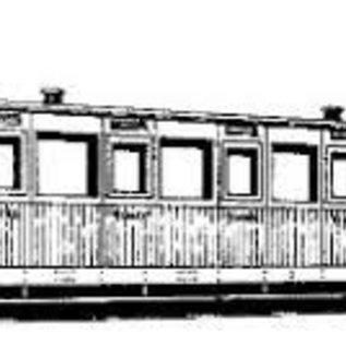 """Dundas Models (formerly Parkside Dundas) Parkside Dundas DM10A """"Vale of Rheidol 3rd Class Bogie Coach no. 1-12"""" (Spur OO9/HOe)"""