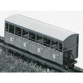 """Dundas Models (formerly Parkside Dundas) Parkside Dundas DM22 """"Festiniog Railway Semi-Open Bogie Coaches No. : 37 & 38"""" (schaal OO9/HOe)"""