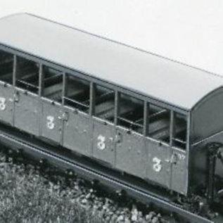 "Dundas Models (formerly Parkside Dundas) Parkside Dundas DM22 ""Festiniog Railway Semi-Open Bogie Coaches No. : 37 & 38"" (Spur OO9/HOe)"