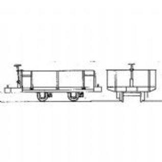 "Dundas Models (formerly Parkside Dundas) Parkside Dundas DM31 ""Festiniog Railway 4 Wheel Hudson Steel Bodied Open Wagon"" (schaal OO9/HOe)"