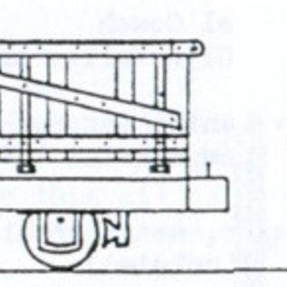 "Dundas Models (formerly Parkside Dundas) Parkside Dundas DM32 ""Hudson 4 Wheel Wooden Bodied Drop Sided Open Wagon"" (Spur OO9/HOe)"