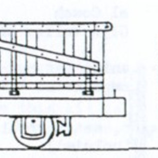 "Parkside Dundas Parkside Dundas DM32 ""Hudson 4 Wheel Wooden Bodied Drop Sided Open Wagon"" (gauge OO9/HOe)"