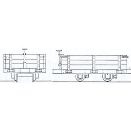 "Parkside Dundas Parkside Dundas DM33 ""Hudson 4 Wheel Wooden Bodied Three Plank Open Wagon"" (Spur OO9/HOe)"