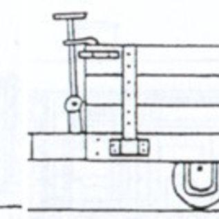 "Dundas Models (formerly Parkside Dundas) Parkside Dundas DM33 ""Hudson 4 Wheel Wooden Bodied Three Plank Open Wagon"" (schaal OO9/HOe)"