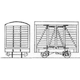"""Dundas Models (formerly Parkside Dundas) Parkside Dundas DM35 """"4 Wheel Goods Van (Based on Glyn Valley Van)"""" (Spur OO9/HOe)"""