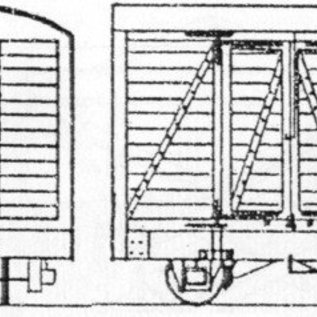 "Parkside Dundas Parkside Dundas DM35 ""4 Wheel Goods Van (Based on Glyn Valley Van)"" (Spur OO9/HOe)"