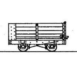 "Parkside Dundas Parkside Dundas DM36 ""4 Wheel End Door Open Wagon (Based on Vale of Reidol Wagon)"" (schaal OO9/HOe)"