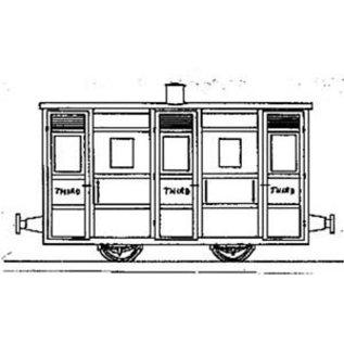 "Dundas Models (formerly Parkside Dundas) Parkside Dundas DM43 ""Festiniog & Blaenau 4 Wheel 3rd Class Coach"" (gauge OO9/HOe)"