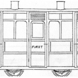 "Dundas Models (formerly Parkside Dundas) Parkside Dundas DM44 ""Festiniog & Blaenau 4 Wheel 1st/2nd Class Coach"" (schaal OO9/HOe)"