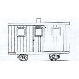 """Dundas Models (formerly Parkside Dundas) Parkside Dundas DM45 """"Festiniog Railway Quarryman's Coach"""" (Spur OO9/HOe)"""