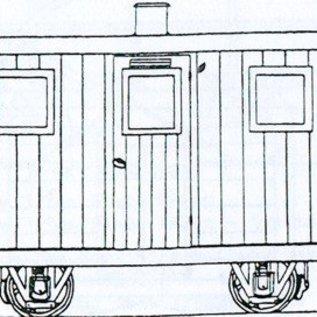 "Dundas Models (formerly Parkside Dundas) Parkside Dundas DM45 ""Festiniog Railway Quarryman's Coach"" (gauge OO9/HOe)"