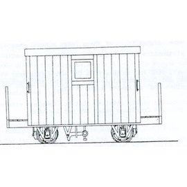 "Parkside Dundas Parkside Dundas DM48 ""Festiniog Railway 4 Wheel Brake Van 2 Balcony"" (schaal OO9/HOe)"