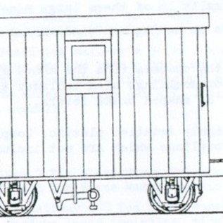 "Dundas Models (formerly Parkside Dundas) Parkside Dundas DM48 ""Festiniog Railway 4 Wheel Brake Van 2 Balcony"" (schaal OO9/HOe)"