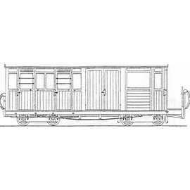 "Parkside Dundas Parkside Dundas DM59 ""Festiniog Railway Bogie Luggage, Brake 3rd Class Coach no. 10"" (schaal OO9/HOe)"