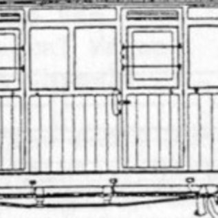"Dundas Models (formerly Parkside Dundas) Parkside Dundas DM61 ""Festiniog (Style) 4 Compartment Planked Composite Bogie Coach"" (schaal OO9/HOe)"