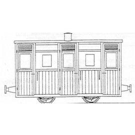 "Dundas Models (formerly Parkside Dundas) Parkside Dundas DM62 ""Festiniog & Blaenau (Style) Planked 3rd Class Coach"" (gauge OO9/HOe)"