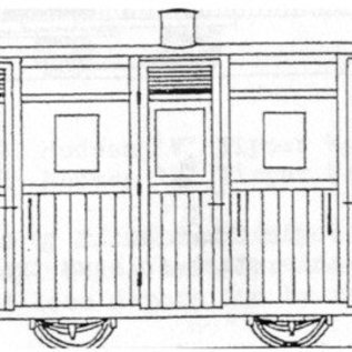 "Dundas Models (formerly Parkside Dundas) Parkside Dundas DM62 ""Festiniog & Blaenau (Style) Planked 3rd Class Coach"" (schaal OO9/HOe)"