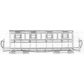 """Parkside Dundas Parkside Dundas DM64 """"Festiniog (Style) 4 Compartment Panelled Composite Bogie Coach"""" (schaal OO9/HOe)"""