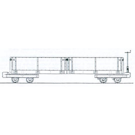 "Dundas Models (formerly Parkside Dundas) Parkside Dundas DM65 ""Hudson Steel Dropside Bogie Open Wagon"" (schaal OO9/HOe)"