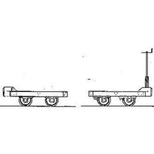 """Dundas Models (formerly Parkside Dundas) Parkside Dundas DM66 """"Hudson 1950's Wagon Bogies"""" (schaal OO9/HOe)"""