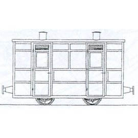 "Parkside Dundas Parkside Dundas DM67 ""Victorian Two Compartment Panelled 4 Wheel Coach"" (schaal OO9/HOe)"