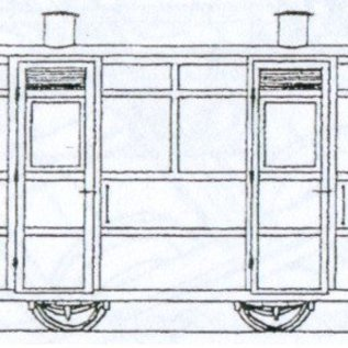 "Dundas Models (formerly Parkside Dundas) Parkside Dundas DM67 ""Victorian Two Compartment Panelled 4 Wheel Coach"" (Spur OO9/HOe)"