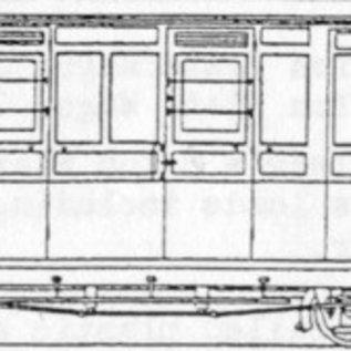 """Parkside Dundas Parkside Dundas DM69 """"Brake Third Observation Bogie Coach"""" (Spur OO9/HOe)"""