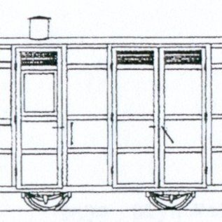 "Dundas Models (formerly Parkside Dundas) Parkside Dundas DM74 ""Victorian 4 Wheel Passenger Guards Van"" (Spur OO9/HOe)"