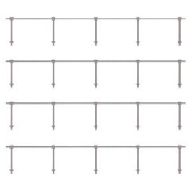 Ratio Ratio Trackside Series 143 Single Stanchions (Gauge H0/00)