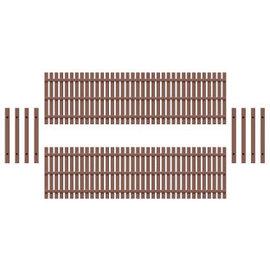 Ratio Ratio Lineside 437 houten hekwerk (schaal H0/00)