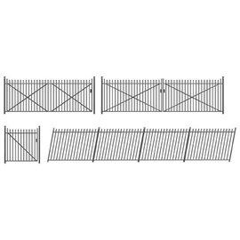 Ratio Ratio Lineside 435 Eisenzaun und Tore (Spur H0/00)