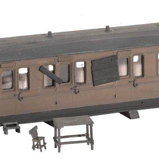 Ratio Ratio Trackside Series 501 Als Scheune benutzter ausser Dienst gestellter Wagon (schaal H0/00)