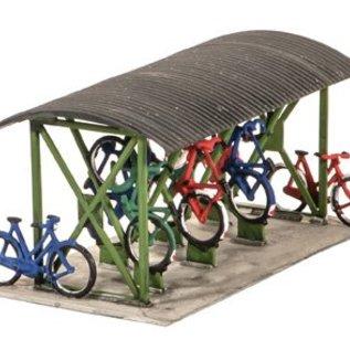 Wills Wills Scenic Series SS23 fietsenstalling + fietsen (schaal H0/00)