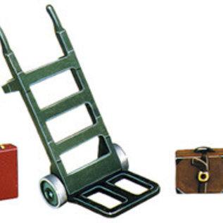 Peco Peco LK752 steekwagen + bagage witmetaal (schaal 0)