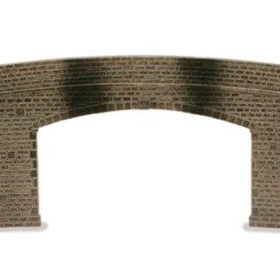 Peco Peco LK734 Road Bridge Sides & Walls Stone Type Double Track (Gauge 0)